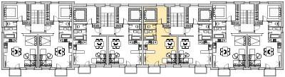 Pôdory poschodia č. 3 s vyznačením bytom 305