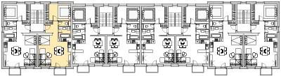 Pôdory poschodia č. 3 s vyznačením bytom 302