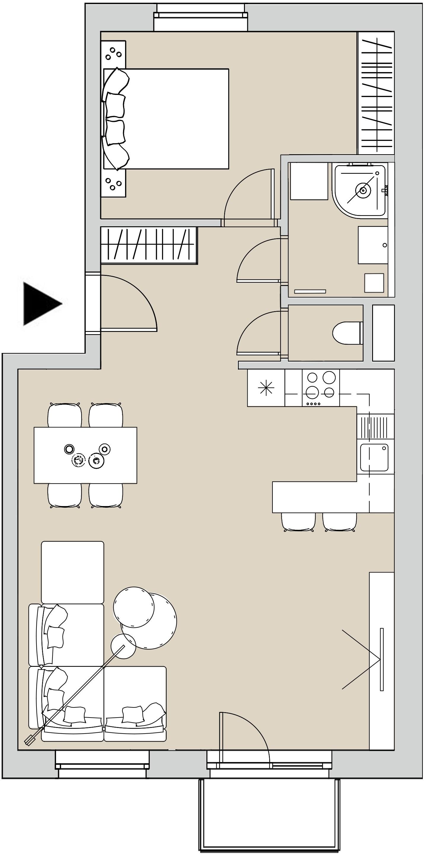 Pôdory bytu - 202 - varianta 2 - izbový
