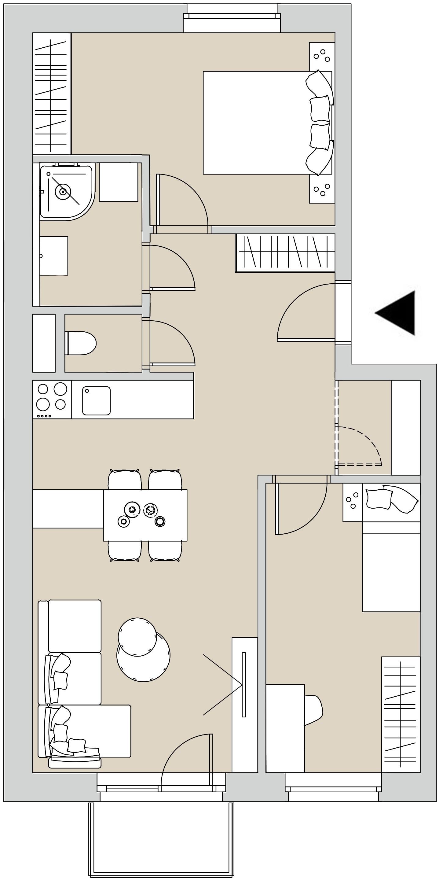Pôdory bytu - 307 - varianta 3 - izbový