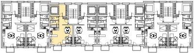 Pôdory poschodia č. 3 s vyznačením bytom 303