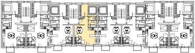 Pôdory poschodia č. 3 s vyznačením bytom 304