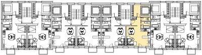 Pôdory poschodia č. 3 s vyznačením bytom 306