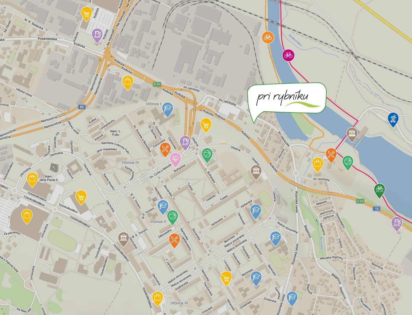 Mapa umiestnenia budovy | prirybniku.sk