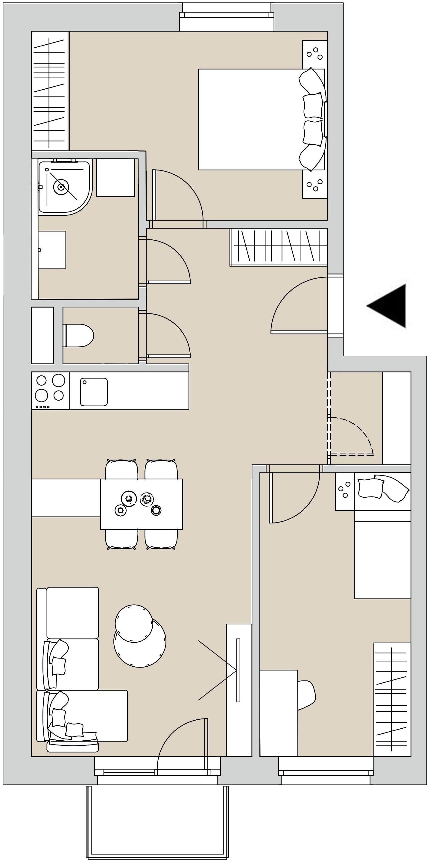 Pôdory bytu - 207 - varianta 3 - izbový