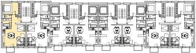 Pôdory poschodia č. 2 s vyznačením bytom 201