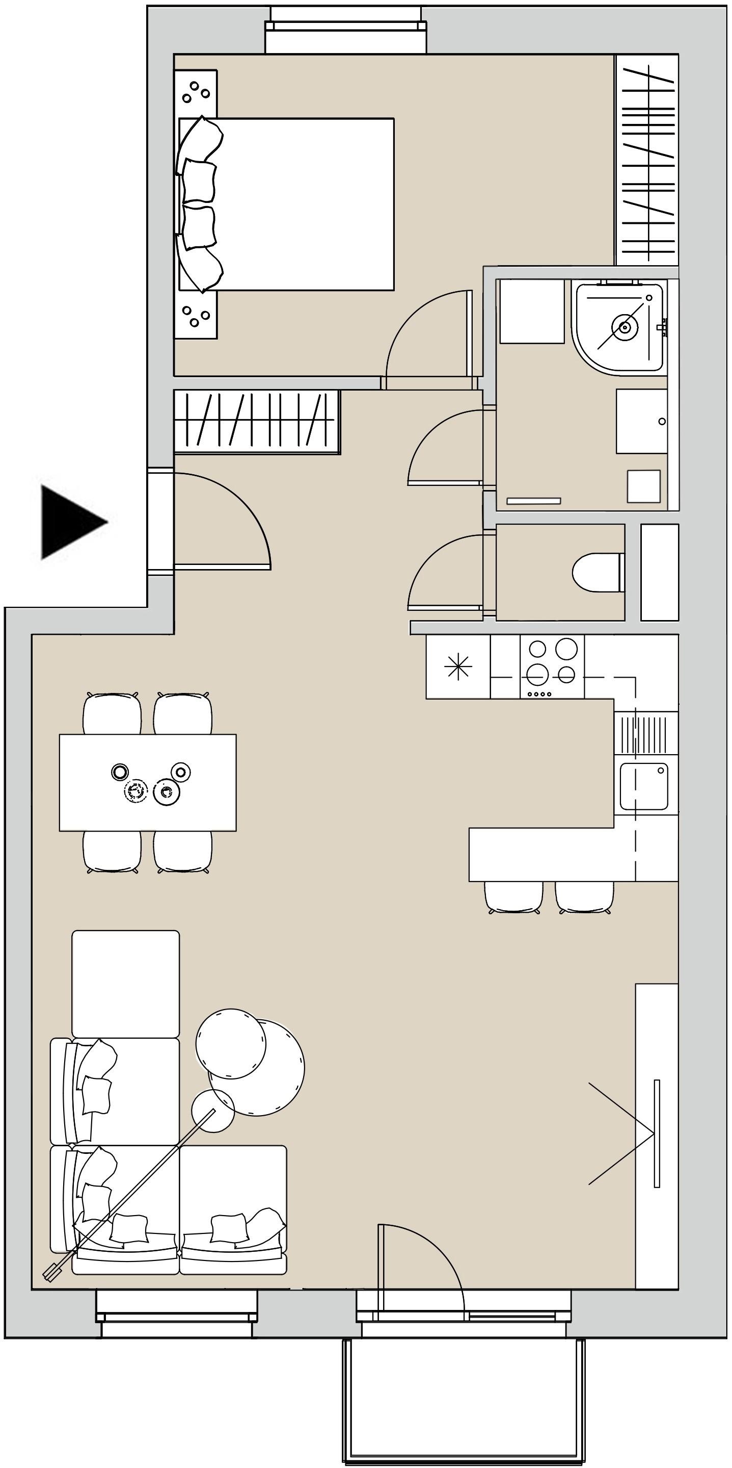Pôdory bytu - 402 - varianta 2 - izbový